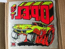 "Vintage Opel Gt color iron on transfer 12""X12"""