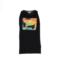WeSC NEW Mens Black Sofer Graphic Sleeveless Tank Top Shirt size - XL