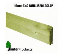 T&g Pressure Treated LOGLAP Cladding EX 125mm X 22mm per Meter