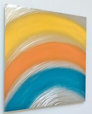 """CONTEMPORARY ABSTRACT MODERN METAL WALL ART TITLED """"CANARY"""""""