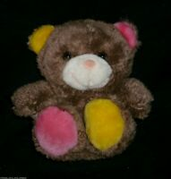 """8"""" VINTAGE COLLECTIBLE CRITTERS TEDDY BEAR BROWN PINK STUFFED ANIMAL PLUSH TOY"""