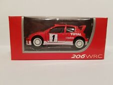 NOREV PEUGEOT 206 WRC Rally / Red colour / Scale 1:64 / NEW