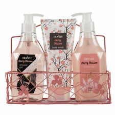 Draizee Bath Gift Set for Women with Refreshing Cherry Blossom Fragrance