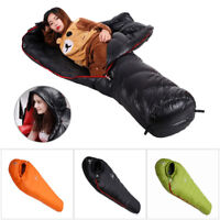 Mummy Goose Down Sleeping Bag Outdoor Waterproof Camping Travel Kit 4 Season