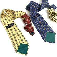 Lot of 2 Men's Tommy Hilfiger Ties Crest Red Blue Yellow