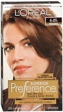 LOreal Superior Preference Hair Color 6 Light Brown, Light Brown 1 each (Pack...