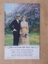 VINTAGE WW1 BAMFORTH SONG CARD - APPLE BLOSSOM TIME WITH YOU - 4995/1