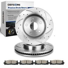 POWER PERFORMANCE DRILLED SLOTTED PLATED BRAKE DISC ROTORS P31434 FRONT