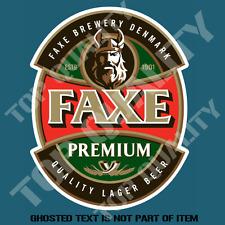 FAXE PREMIUM DENMARK BEER DECAL STICKER BAR FRIDGE COOLER MANCAVE SHED CAR