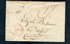1813 Sunderland MA to Elijah Boardman New Milford CT - postmarked Boston