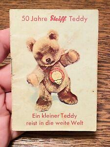 RARITÄT Steiff Heftchen 50 Jahre Teddy von 1953 Bär Jackie Baby Katalog ORIGINAL