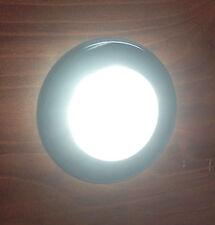 MARINE BOAT RV  FLUSH MOUNT LED WARM WHITE ROUND COURTESY LIGHT IP67 WATERPROOF