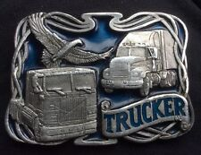 Masterpiece Collection Buckles of America BA219 Trucker Belt Buckle Pewter Blue