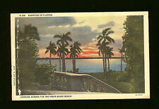 Eventide in Florida-Looking Across the Bay Near Miami Beach-Mailed to Sioux Cty