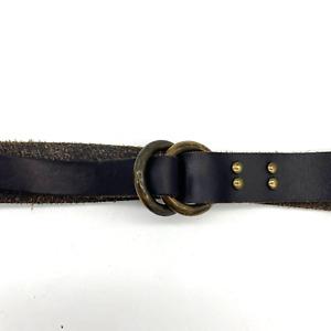 Anthropologie Tarnish Leather Adjustable Belt Medium