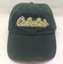 Cabela's Outfitters green baseball cap hat, Adjustable buckle, Green