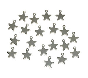 hypoallergenic 304 stainless steel celestial star charms 10mm