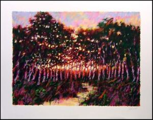"Aldo Luongo ""Road to Cordoba"" Art Hand Signed Serigraph Landscape Make an Offer"