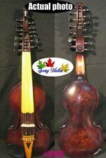 "Baroque Style Bird's eye 14"" SONG concert solo Viola d'Amore 7×7 strings #3976"
