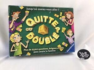 QUITTE OU DOUBLE Jeu De Société Ravensburger 2003 100% Complet