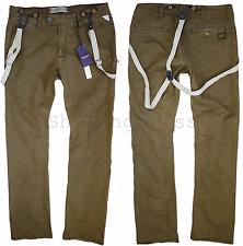 G-STAR RAW Arctic Omega Tapered Pantalon Bretelles Wild Olive W 33 L 32 NEUF