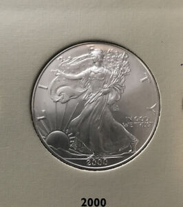Z15- 2000  1 oz Silver American Eagle BU excellent Condition