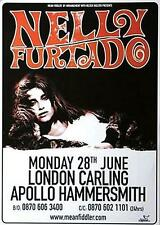 Nelly Furtado TOUR POSTER TOUR MANIFESTO Apollo Hammersmith Odeon London