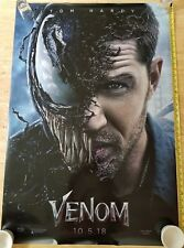 Authentic MARVEL Tom Hardy VENOM Original 27x40 DS Movie Theater Poster