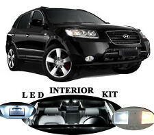 LED Package - Interior + License Plate + Vanity for Hyundai Santa Fe (10 pieces)