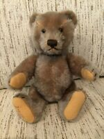 "Steiff Mohair Teddy Bear SIGNED fully jointed 1950's 8"" sitting"