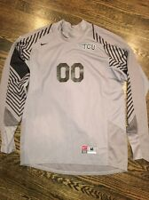 Game Worn TCU Horned Frogs Soccer Jersey Texas Christian Goalie Nike #00 Size M
