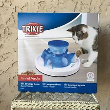 Nib Cat Tunnel Feeder and Toy Activity Play Food Dispenser Container Blue