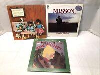 "33 1/3 RPM 12"" [Harry Nilsson] Records (lot Of 3) See Description."