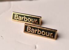 Barbour Clothing enamel Pin badges X2 Jacket Coat Collectable