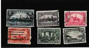 #3883=Canada used selection of early commemorative stamps