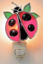 Ladybug Stained Glass Night Light