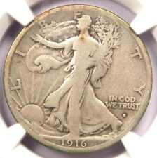 1916-S Walking Liberty Half Dollar 50C - Certified NGC VG10 - Rare Date Coin!