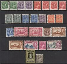 ST. LUCIA 1938-48 KGVI  SG128-141- Incl Perfs/shades- Lightly mounted mint & MNH
