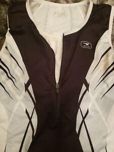 Sugoi Mens Cycling Jersey - White/Black Sleeveless Size XL/XG