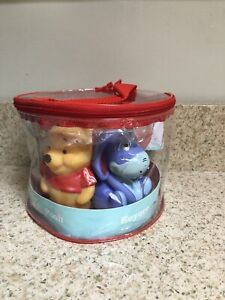 Disney Baby Squirt Toy Pooh, Piglet, Eeyore, Rabbit, Tigger, 5 Vinyl Toys , New