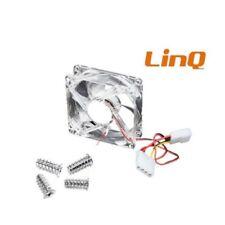 Ventola Interna di Raffreddamento per Computer Case Pc 8x8x2,5Cm TM8025 Linq