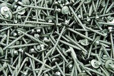 (175) Hex Head #10 x 2-1/2 Pole Barn Screw Rubber Washer Galvanized Roofing