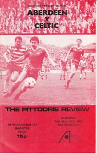 Aberdeen Home Programmes Season 1979-1980