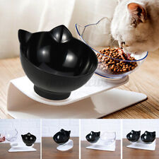 Double Pet Cat Bowl Puppy Dog Food Water Feeder Dispenser Elevated Stand Raised