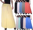 mujer falda Maxi Con Cinturón Vestido de verano cintura alta d-45 NUEVO