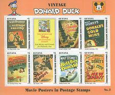GUYANA 1994  MNH SOUVENIR SHEET nº2  Donal Duck,vintage covers,Disney