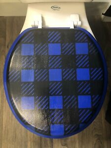 So Plaid Blue Toilet Seat (More Colors)