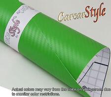 【3D CARBON FIBER Lime Green】3m(118in)x1.52m(59.8in)Wrap Vinyl Wrap roof bonnet