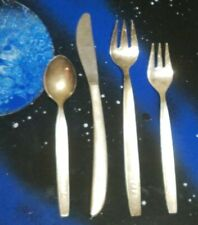 RARE 4Pc. Japan Airlines JAL Silverware 2 FORKS, KNIFE & SPOON - Silver Plated