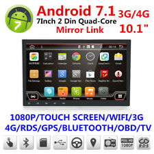 "Quad-Core Android 7.1.1 4GB RAM 10.1"" 1080P 2DIN Car GPS Navigation Stereo Radio"